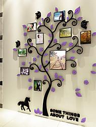 Недорогие -ботанический Наклейки 3D наклейки Фото наклейки, Винил Украшение дома Наклейка на стену Стена Украшение 1
