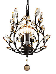 cheap -LightMyself™ 3-Light 33 cm Crystal / LED Chandelier Metal Painted Finishes Modern Contemporary 110-120V / 220-240V