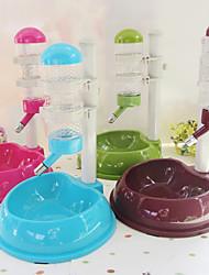 cheap -Cat / Dog Bowls & Water Bottles Pet Bowls & Feeding Waterproof Brown / Green / Blue