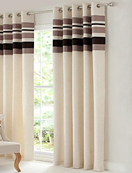 cheap -Country Curtains® Room Darkening Polyester Linen with Pleated Band lined Curtain Two Panel