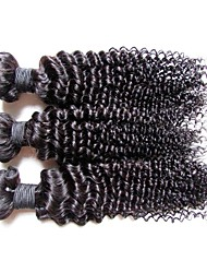 cheap -Remy Human Hair Remy Weaves Curly / Kinky Curly Brazilian Hair 300 g More Than One Year