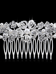 cheap -Side Combs Hair Accessories Crystal / Alloy Wigs Accessories Women's 1pcs pcs 1-4inch cm Party Boutique Crystal