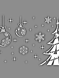 cheap -Christmas Window Sticker Dining Room / Bedroom / Office PVC / Vinyl
