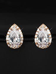 cheap -Women's Stud Earrings Drop Gold Plated Earrings Jewelry Cream For