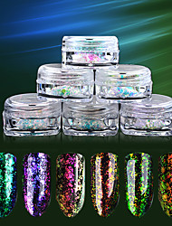 cheap -6pcs Nail DIY Tools Nail Jewelry Shimmer / Glitter Shine Fashion nail art Manicure Pedicure Shimmer Glitters / Classic Daily