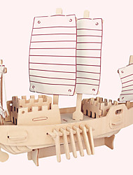 cheap -Jigsaw Puzzles Wooden Puzzles Building Blocks DIY Toys Russian Boat 1 Wood Ivory Model & Building Toy