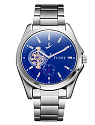 cheap -ASJ Men's Mechanical Watch Automatic self-winding Charm Shock Resistant Analog Blue / Stainless Steel / Stainless Steel / Japanese / Moon Phase / Japanese