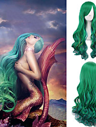cheap -Cosplay Costume Wig Synthetic Wig Body Wave Body Wave Wig Green Synthetic Hair Women's Green