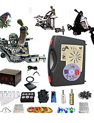 cheap -BaseKey Professional Tattoo Kit Tattoo Machine - 3 pcs Tattoo Machines LED power supply 2 steel machine liner & shader / 1 alloy machine liner & shader / Case Included
