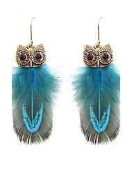 cheap -Women's Drop Earrings Ladies Fashion Native American Feather Earrings Jewelry Red / Blue / Candy Pink For Wedding Party Daily Casual Sports