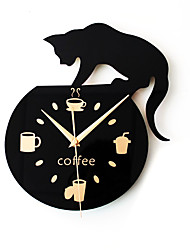 cheap -Casual / Modern Contemporary / Retro Acrylic / Metal Round Novelty / Characters / Holiday Indoor / Outdoor AA Decoration Wall Clock Analog No