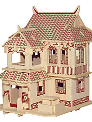 cheap -Jigsaw Puzzles Wooden Puzzles Building Blocks DIY Toys  JianGnan Style House C 1 Wood Ivory Model & Building Toy