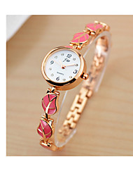 cheap -Women's Bracelet Watch Quartz Stainless Steel Black / White / Red 30 m Hot Sale Analog - Digital Charm - Black Fuchsia Pink