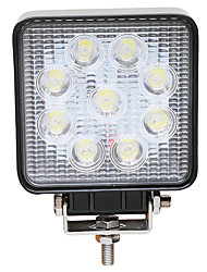 cheap -JIAWEN 1 Piece Wire Connection Car Light Bulbs 27 W High Performance LED 9 LED Fog Lights For All years