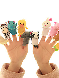 cheap -10 pcs Finger Puppets Plush Toy Hand Puppets Animal Series Parent-Child Interaction Textile Cotton Imaginative Play, Stocking, Great Birthday Gifts Party Favor Supplies Boys' Girls' Kids Infant Baby