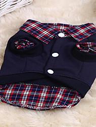 cheap -Cat Dog Sweatshirt Dog Clothes Rainbow Costume Cotton Plaid / Check Sports S M L