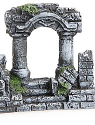 cheap -Aquarium Decoration Resin Rome Square Stone Pillars Aquarium Landscaping Fish Tank Ornament Decoration Landscap Decorative