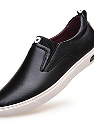 cheap -Men's Leather Shoes Leather Spring / Fall Loafers & Slip-Ons Waterproof Black / Party & Evening / Lace-up / Party & Evening / Outdoor / Office & Career