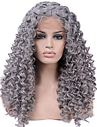 cheap -heat resistant synthetic lace front wigs kinky curly hair heat resistant fiber hair for fashion woman