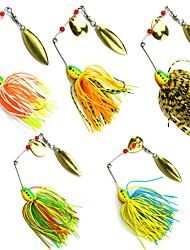 cheap -5 pcs Fishing Lures Buzzbait & Spinnerbait Metal Bait Spinnerbaits Sinking Bass Trout Pike Sea Fishing Bait Casting Spinning Lead Metal / Jigging Fishing / Freshwater Fishing / Bass Fishing