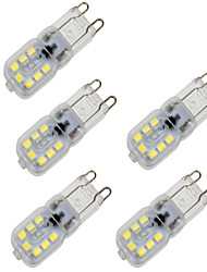 cheap -BRELONG 5 pcs G9 4W 14LED Dimmable SMD2835 Corn Light Transparent Case 220V White / Warm White