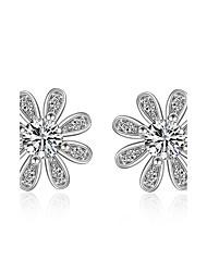 cheap -Women's AAA Cubic Zirconia Stud Earrings Drop Earrings Sterling Silver Earrings Jewelry Silver For Wedding Party Daily Casual 1pc