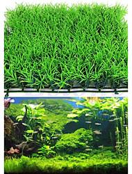 cheap -Fish Tank Aquarium Decoration Waterplant Artificial Plants Green Artificial Plastic 2pcs 25*25*3 cm