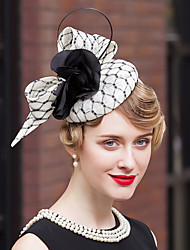 cheap -Flax Feather Velvet Net Fascinators Hats Headpiece Elegant Style