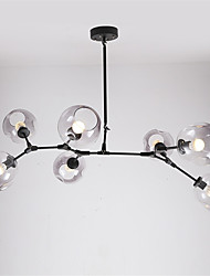 cheap -7-Head Northern Europe Vintage Chandelier Smoky Gray Glass Molecules Pendant Lights Living Room Dining Room
