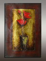 cheap -Hand-Painted Still Life Floral/Botanical Horizontal,Modern European Style One Panel Oil Painting For Home Decoration