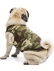 cheap -Cat Dog Shirt / T-Shirt Sweatshirt Vest Dog Clothes Black Orange Green Costume Terylene Cotton Camo / Camouflage Classic Holiday Casual / Daily XS S M L