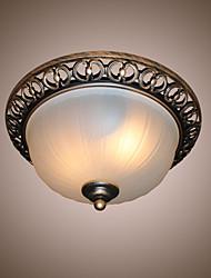 cheap -2-Light 33 cm Mini Style / Designers Flush Mount Lights Metal Glass Others Retro 110-120V / 220-240V / E26 / E27