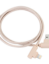 cheap -USB 3.0 / Lightning Cable 1m-1.99m / 3ft-6ft Braided Nylon USB Cable Adapter For iPad / Apple / iPhone