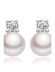 cheap -Women's Stud Earrings Drop Earrings Elegant Imitation Pearl Earrings Jewelry White For Wedding Party Daily Casual 1pc