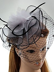 cheap -Gemstone & Crystal / Tulle / Feather Fascinators / Hats / Headpiece with Crystal / Feather 1 Wedding / Special Occasion / Party / Evening Headpiece