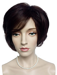 cheap -Synthetic Wig Curly Curly Bob Wig Short Dark Auburn Synthetic Hair Women's Red