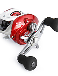 cheap -Super Casting Low Profile Baitcasting Fishing Reel Red