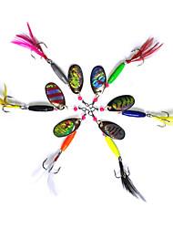 cheap -6 pcs Fishing Lures Buzzbait & Spinnerbait Spoons Metal Bait Spinnerbaits Sinking Bass Trout Pike Sea Fishing Fly Fishing Bait Casting Metal / Spinning / Jigging Fishing / Freshwater Fishing