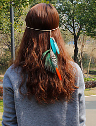 cheap -Feather Headbands / Flowers / Hair Clip with 1 Wedding / Special Occasion / Casual Headpiece / Hair Tie