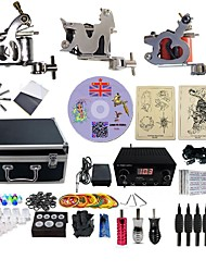 cheap -BaseKey Professional Tattoo Kit Tattoo Machine - 3 pcs Tattoo Machines, Professional 20 W LED power supply 3 steel machine liner & shader / Case Included