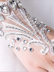 cheap -Lace Wrist Length Glove Bridal Gloves / Party / Evening Gloves With Rhinestone