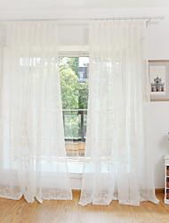 Недорогие -экологически чистые занавески шторы две панели / вышивка / спальня
