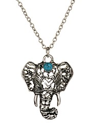 cheap -Women's Pendant Necklace Elephant Animal Cheap Vintage Bohemian Euramerican Folk Style Alloy Silver Necklace Jewelry For Casual