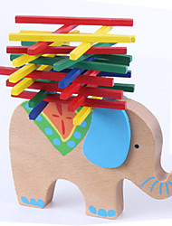 cheap -1 pcs Stacking Game Stacking Tumbling Tower Wooden Elephant Professional Novelty Balance Kid's Adults' Boys' Girls' Toys Gifts