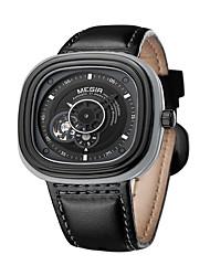 Недорогие -Муж. Модные часы Кварцевый Кожа Черный / Коричневый Аналоговый Кулоны На каждый день - Кофейный Черный Черный / Синий