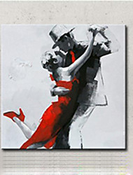 cheap -Hand-Painted Canvas Oil Painting Modern Abstract Passionate Dancer Figures Wall Art For Living Room Decor Wall Picture Ready Made Frame