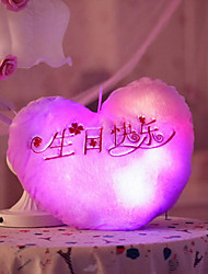 cheap -Heart LED Lighting Stuffed Animal Plush Toy Stress Reliever Cute LED Lighting Flourescent Glamorous & Dramatic Cartoon Sweet Cloth Girls' Toy Gift / Fluorescent