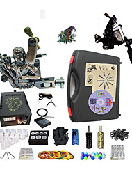 cheap -BaseKey Professional Tattoo Kit Tattoo Machine - 2 pcs Tattoo Machines, Professional 20 W LED power supply 1 steel machine liner & shader / 1 alloy machine liner & shader / Case Included