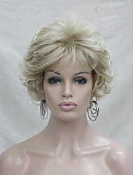 cheap -Synthetic Wig Curly Curly With Bangs Wig Blonde Short Blonde Synthetic Hair Women's Blonde