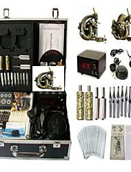 Недорогие -BaseKey Профессиональный комплект для татуировки Татуировочная машина - 2 pcs татуировки машины LCD питания LCD питания 2 х сплава татуировки для облицовки и затенение / Чехол в комплекте